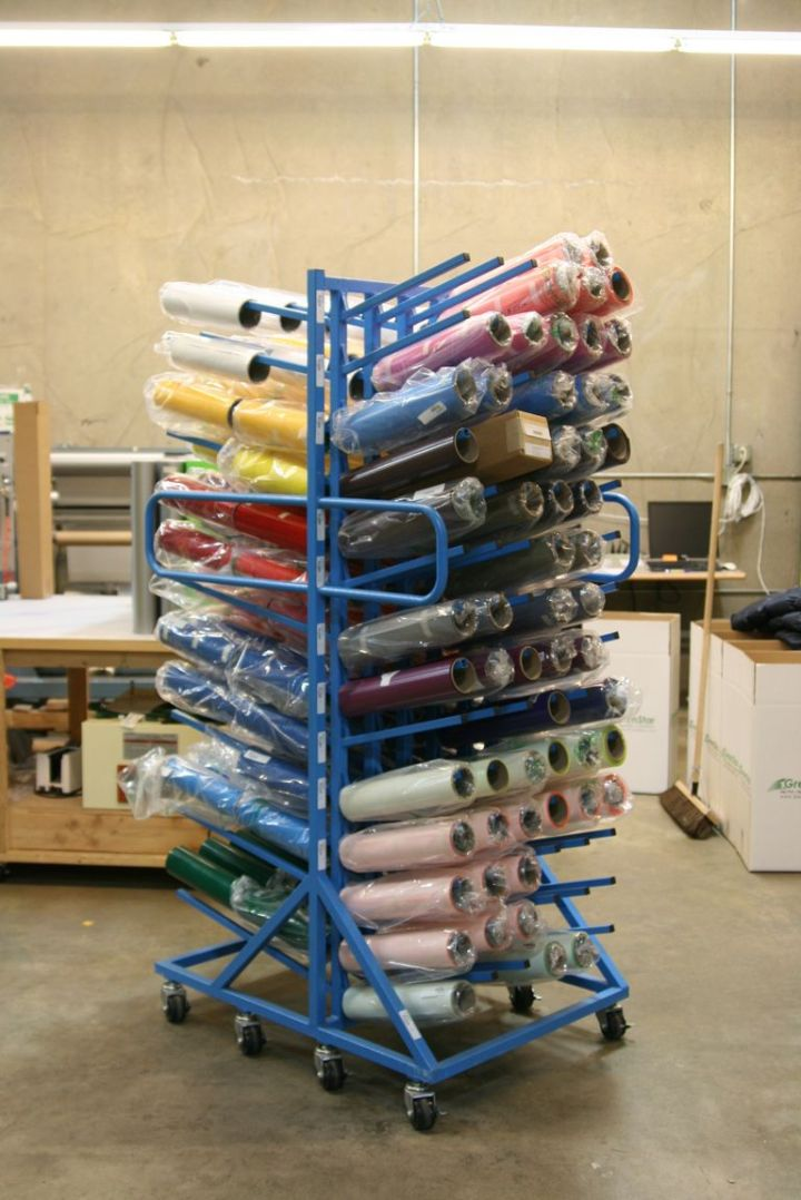 Vinyl Roll Storage Rack