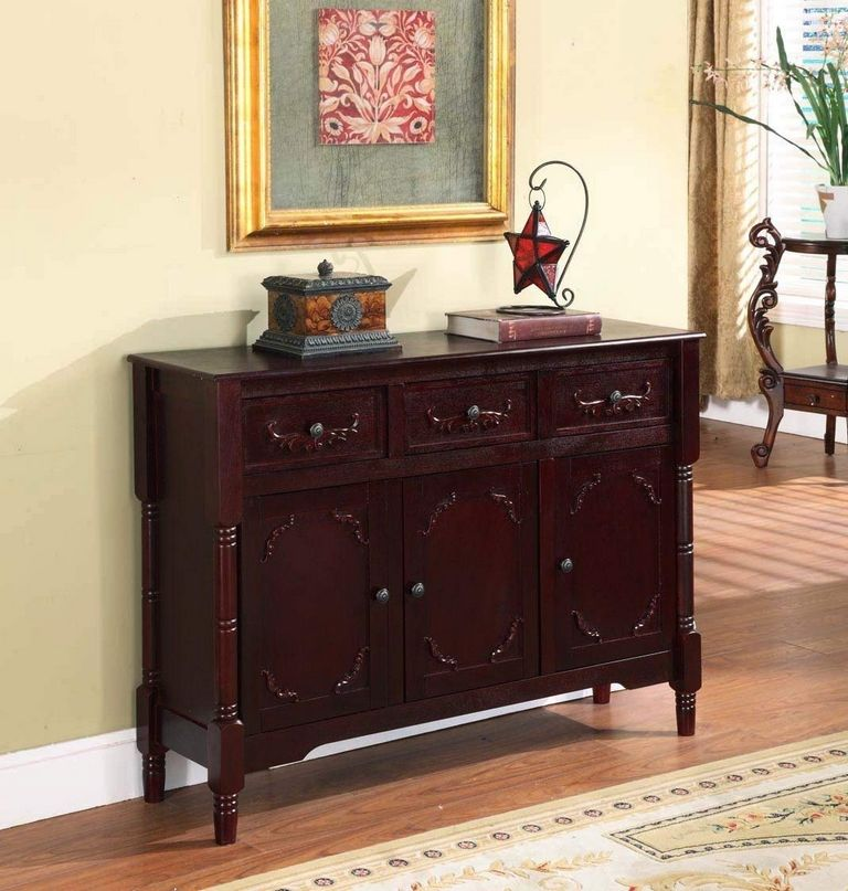 Wood Console Table With Storage