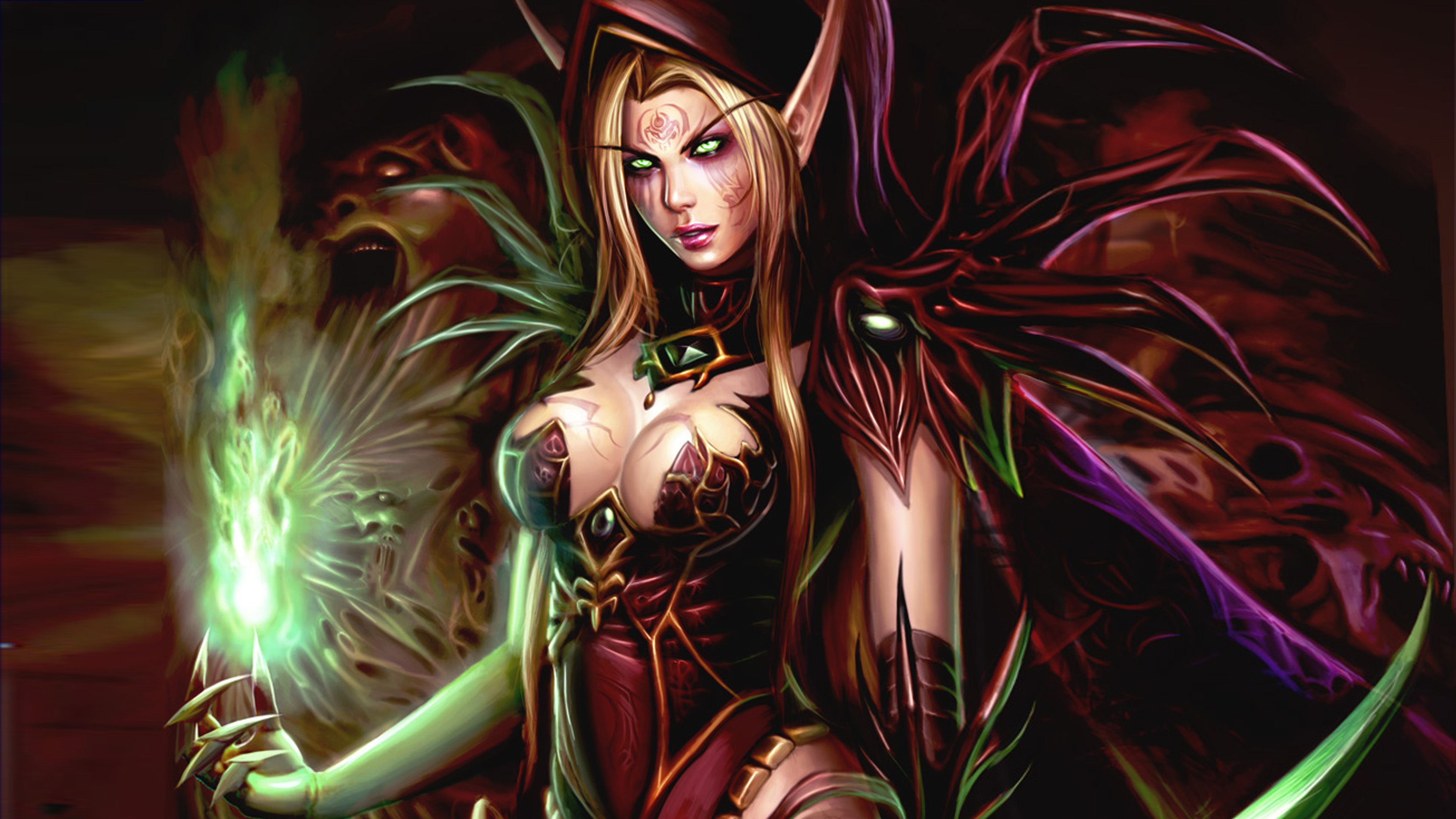World Of Warcraft Video Game Female Characters Valeera Sanguinar Magic Fighter Fantasy Art HD