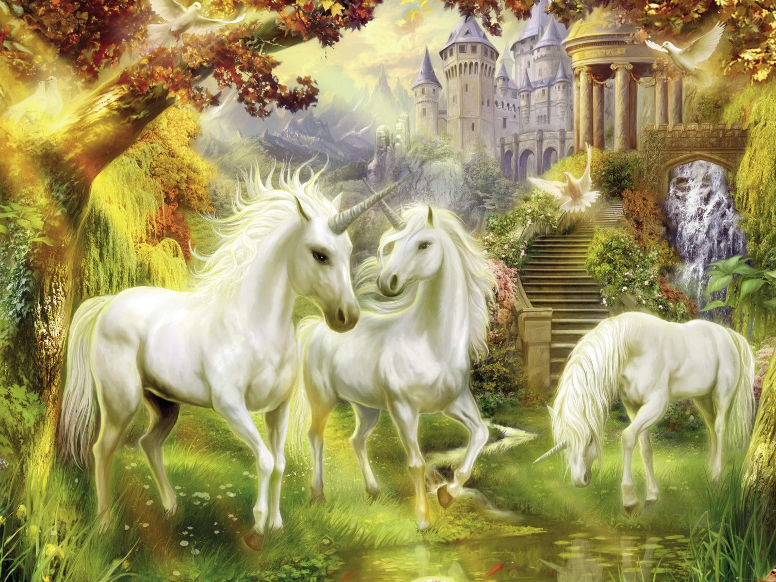 Si te gusta este animal, te brindaremos las mejores imagenes de unicornio totalmente. Unicorn Horse In Paradise Desktop Wallpaper Fairytale