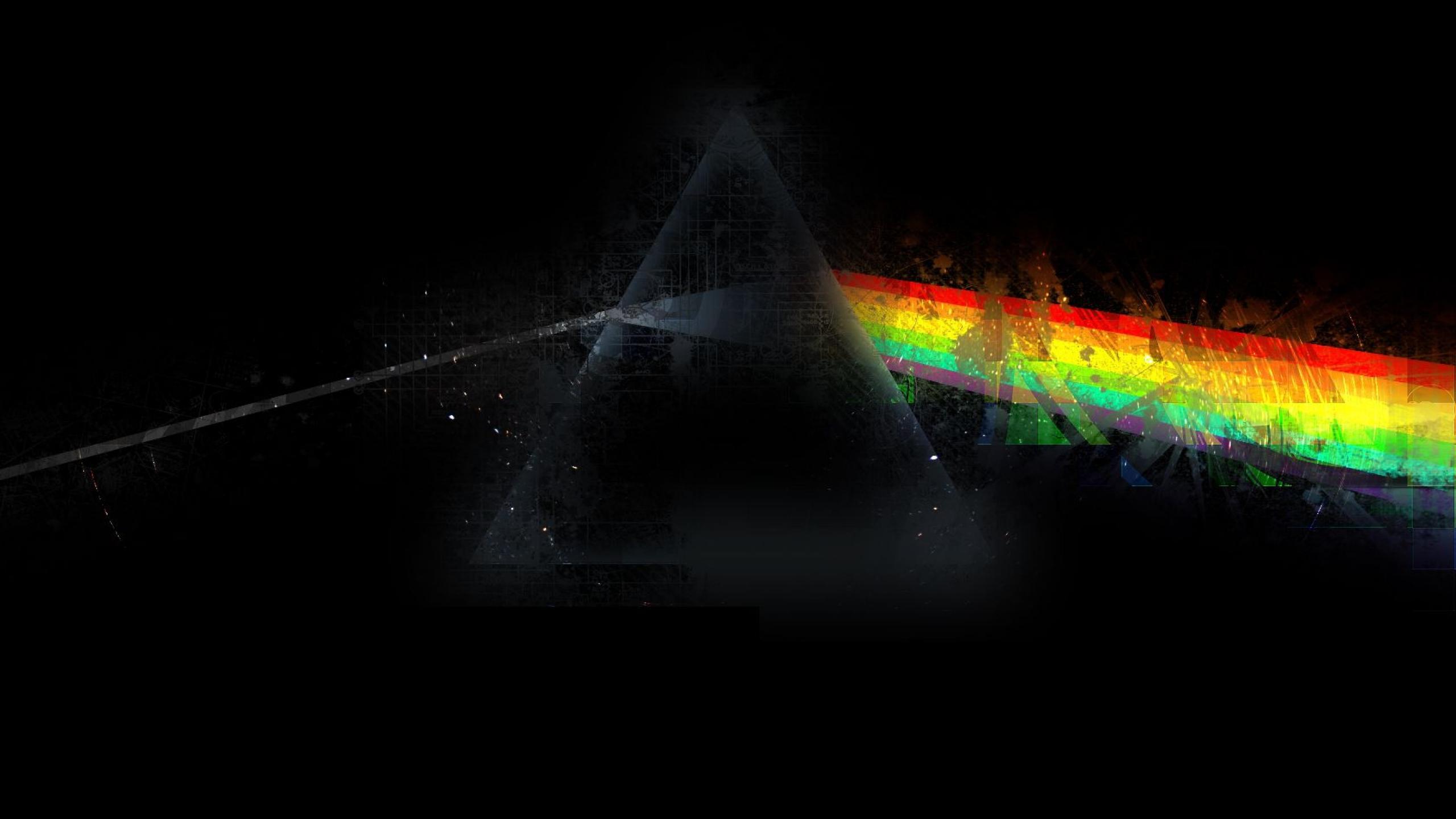 Wallpaper Pink Floyd Triangle Rainbow Graphics