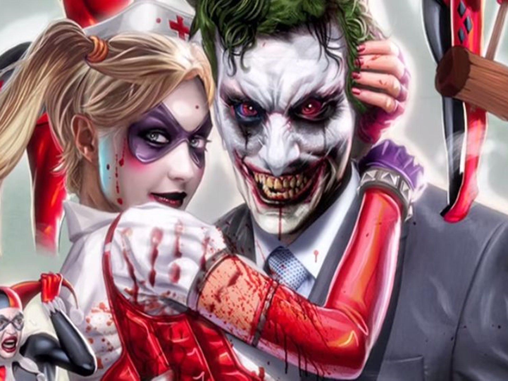 Joker Amp Harley Quinn Vs Deadpool Amp Domino Wallpaper Hd