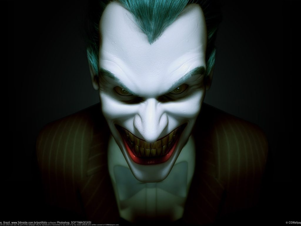 Evil Joker Face Characters Smile Hd Wallpapers For Mobile
