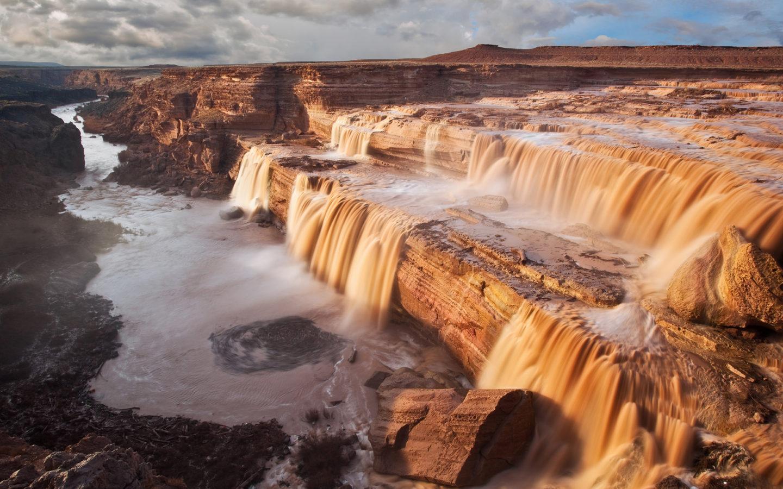 Grand Falls In Coconino Of The Little Colorado River