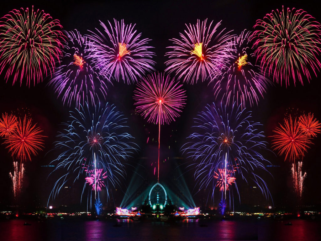 Happy New Year New Years Eve Fireworks In Australia