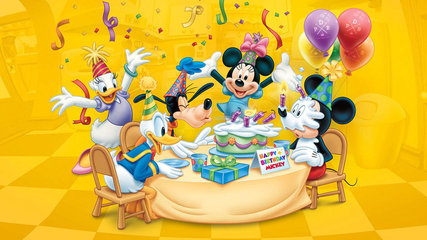Happy Birthday Mickey Celebration Birthday Cake Balloon