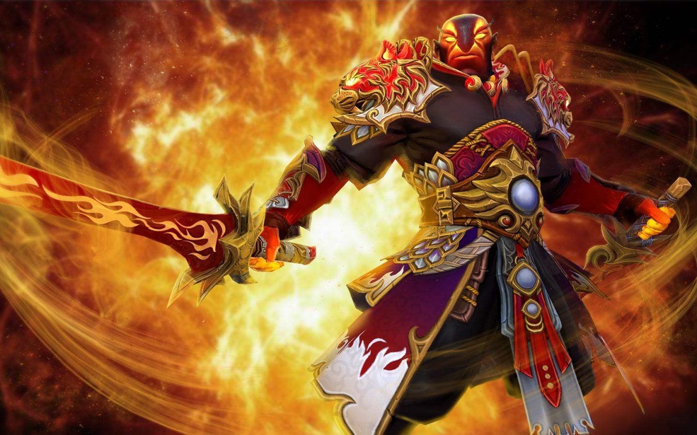 Dota 2 Ember Spirit Fighter Sword Fire Jewelry Game Fan