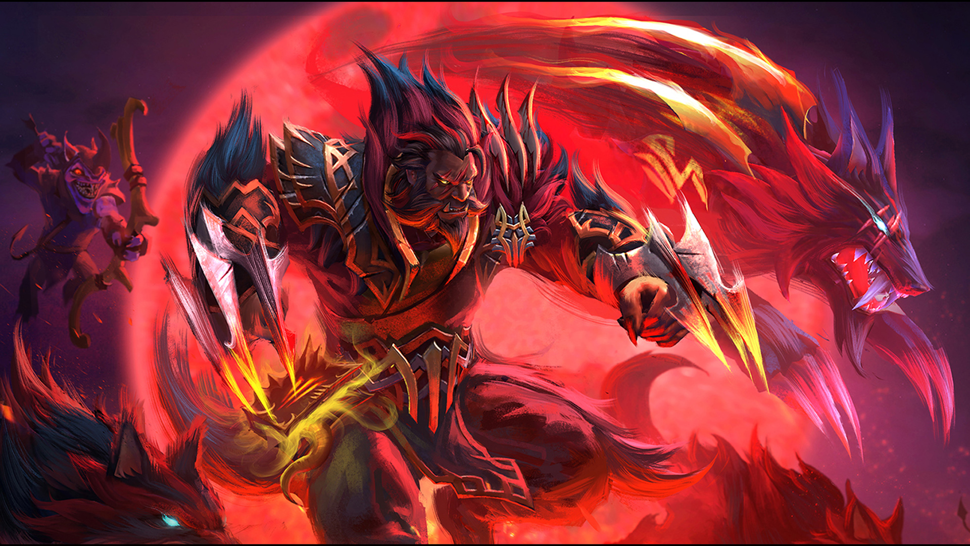 Dota 2 Heroes Warrior Lycan Mark Of The Moon Moon Screen