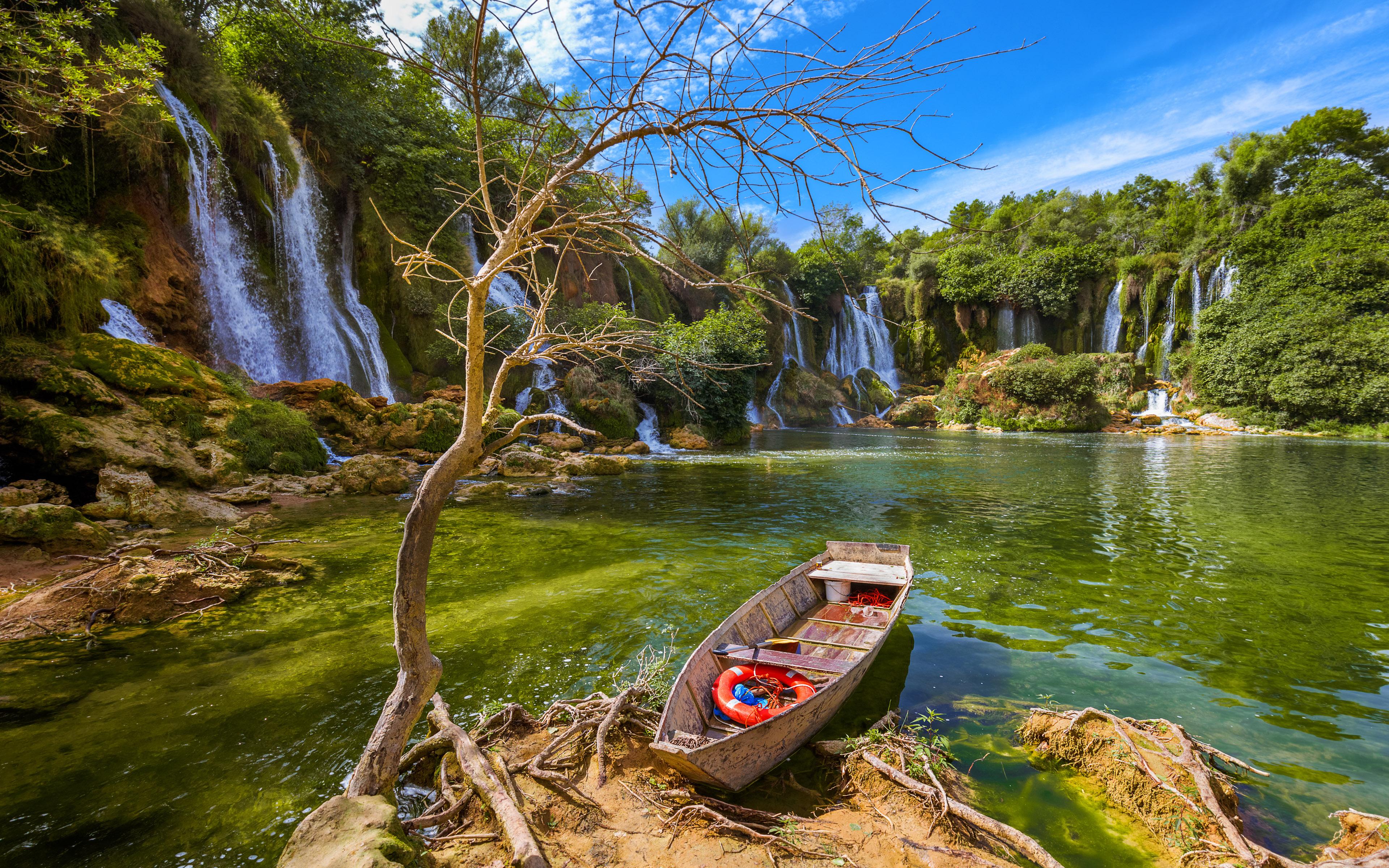 Waterfall Kravice In Bosnia And Herzegovina Beautiful