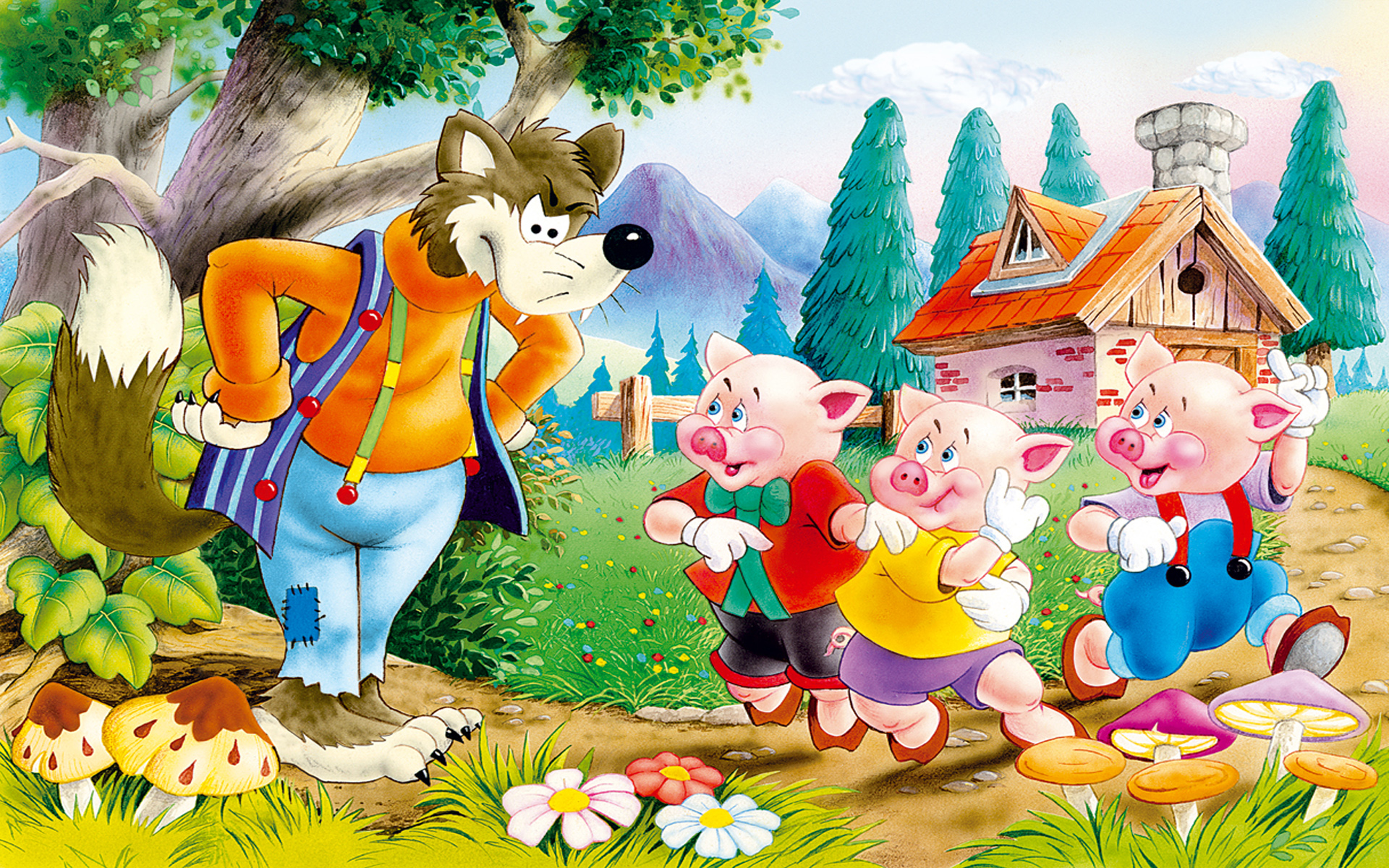 Three Little Pigs Amp The Cunning Wolf Children S Stories
