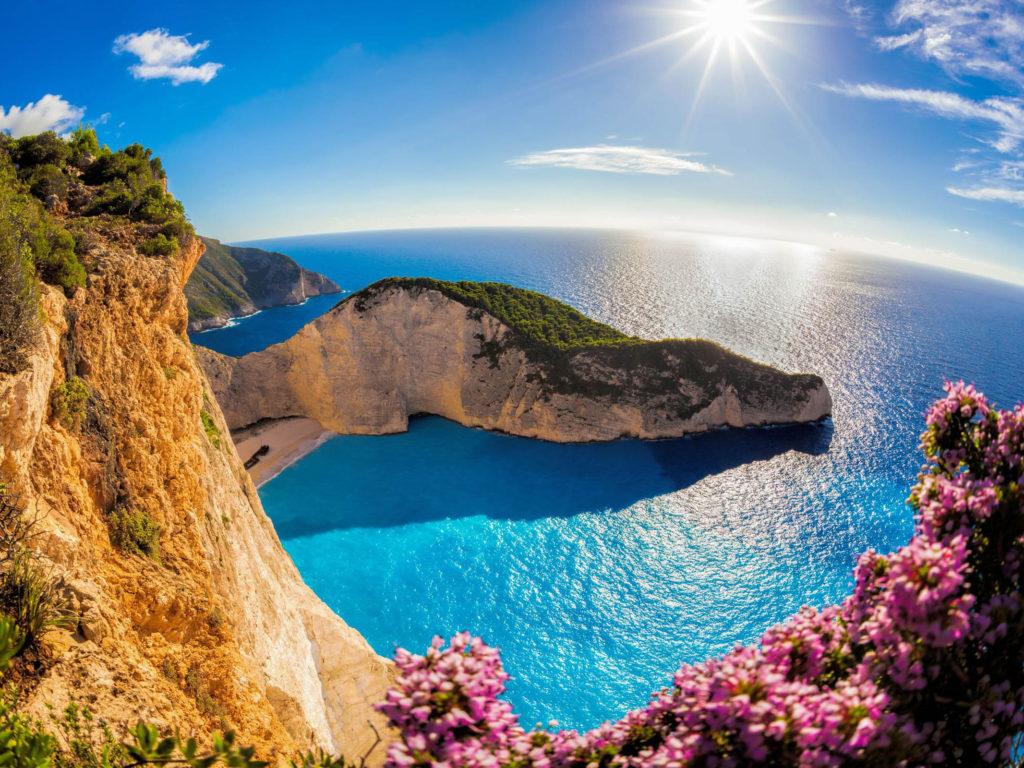 Zakynthos Island In The Ocean In Greece Navajo Beach Sea