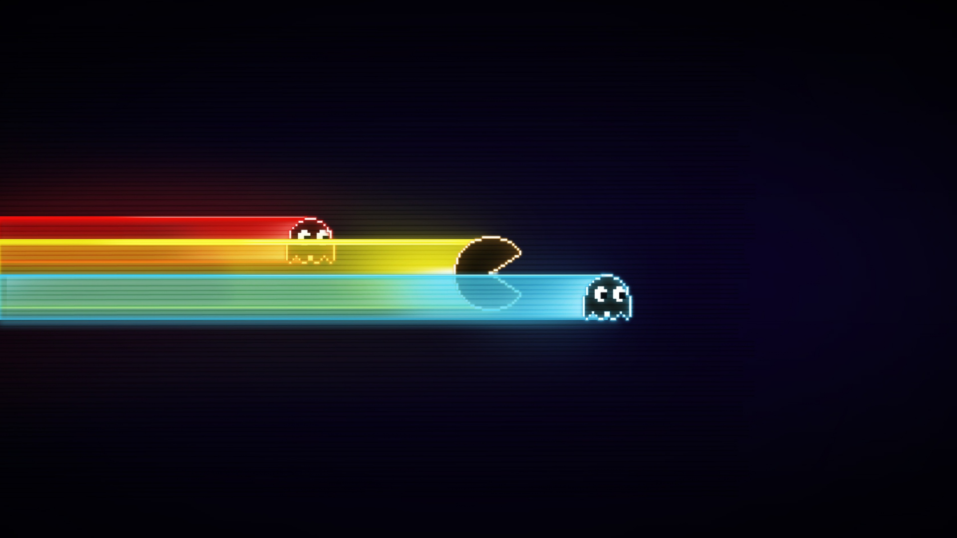 download wallpaper 1920x1080 pacman, game, graphics, speed