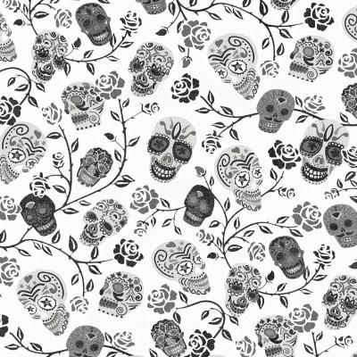 13383-20 Skulls Rose Wallpaper By P+S International