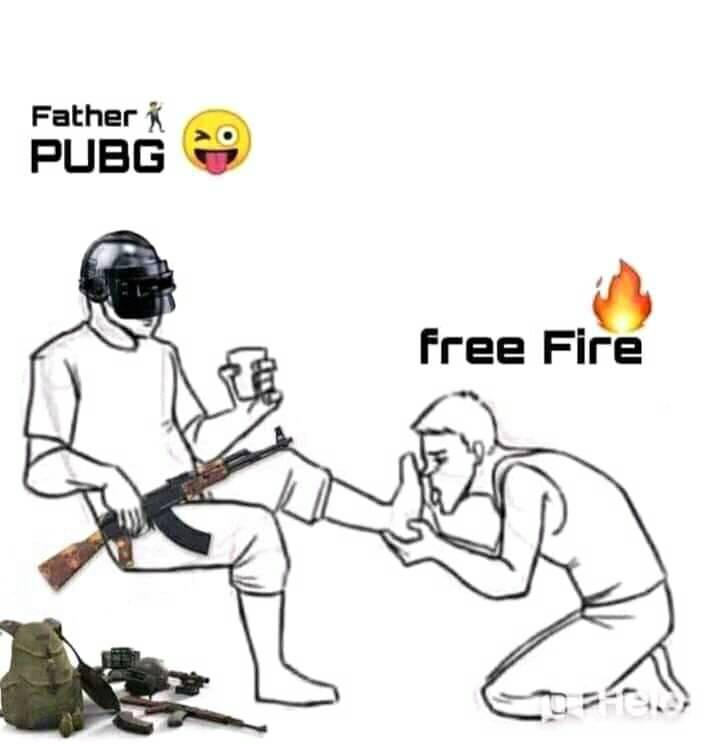 Pubg And Free Fire Funny Meme Free Fire Vs Pubg 712x744 Download Hd Wallpaper Wallpapertip