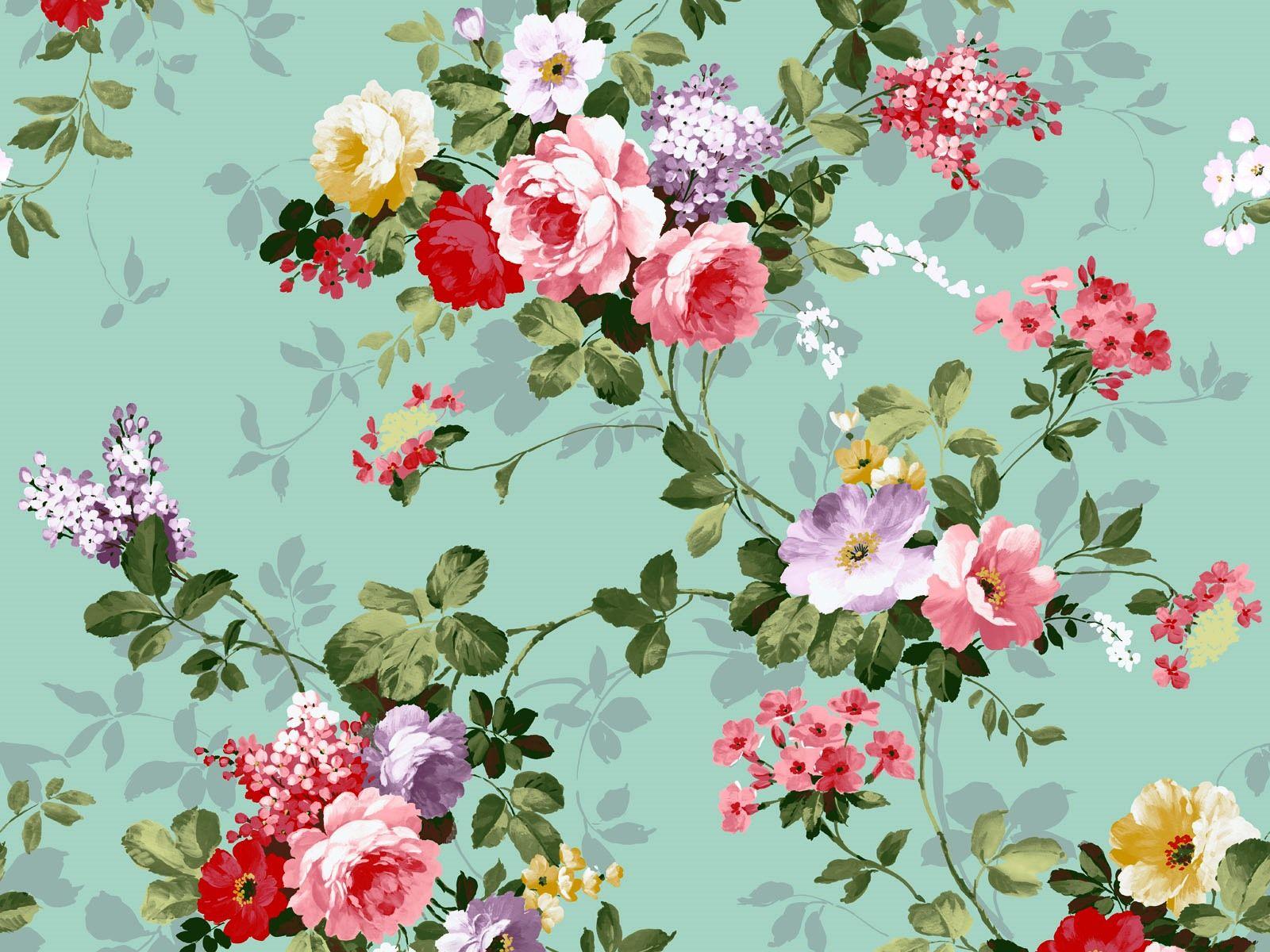 fleur vintage hd papier peint
