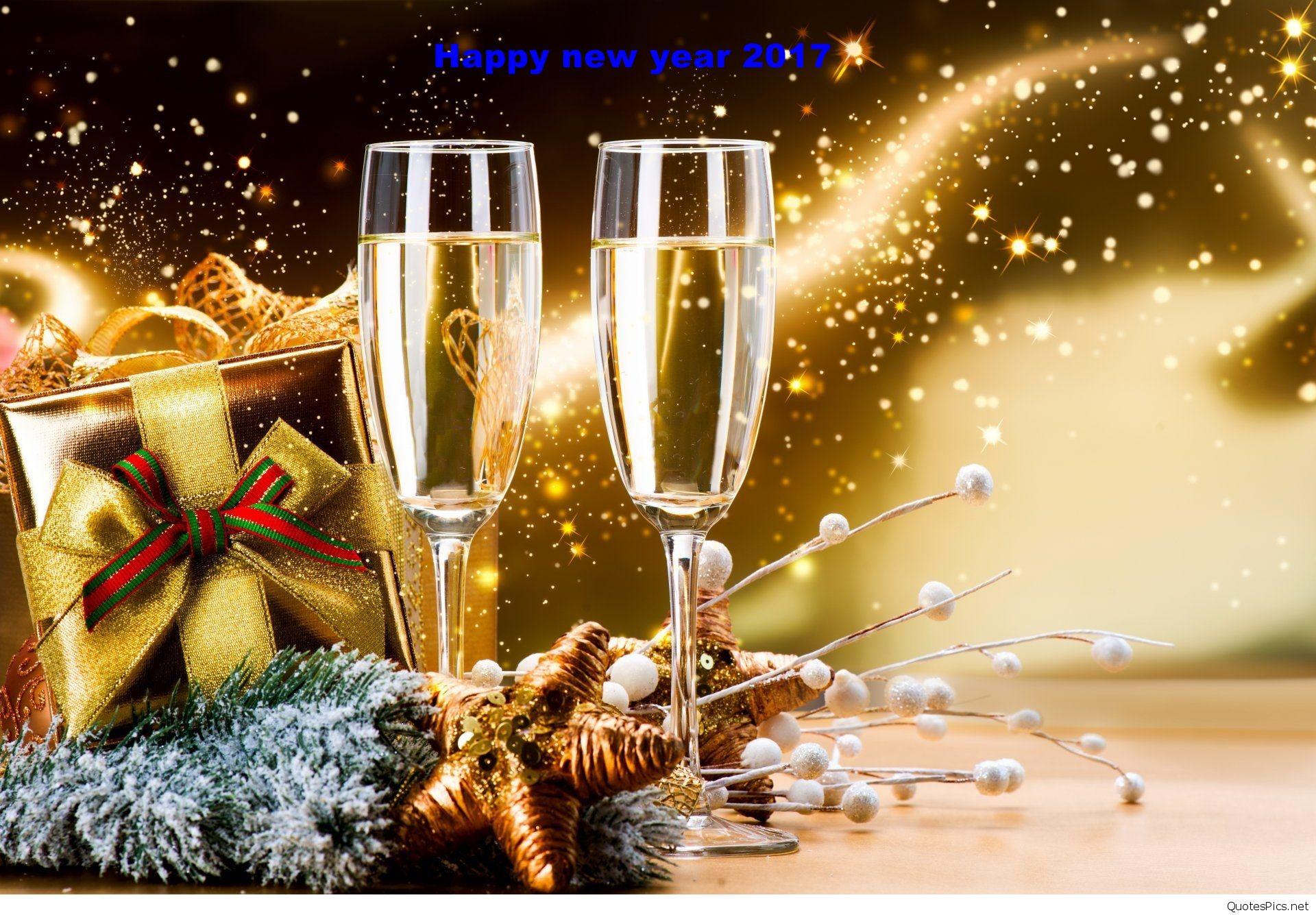 verres de champagne de nouvel an fond