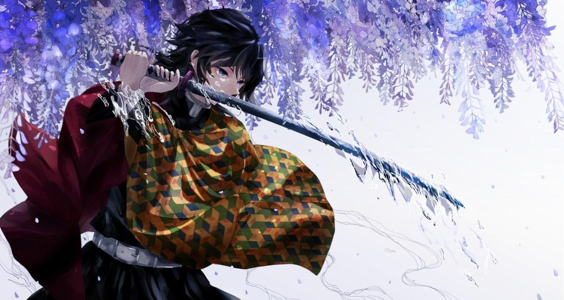 Wallpaper Engine Anime Gifs Search Search Share On Demon Slayer Giyu Wallpaper 4k 3585x1907 Download Hd Wallpaper Wallpapertip