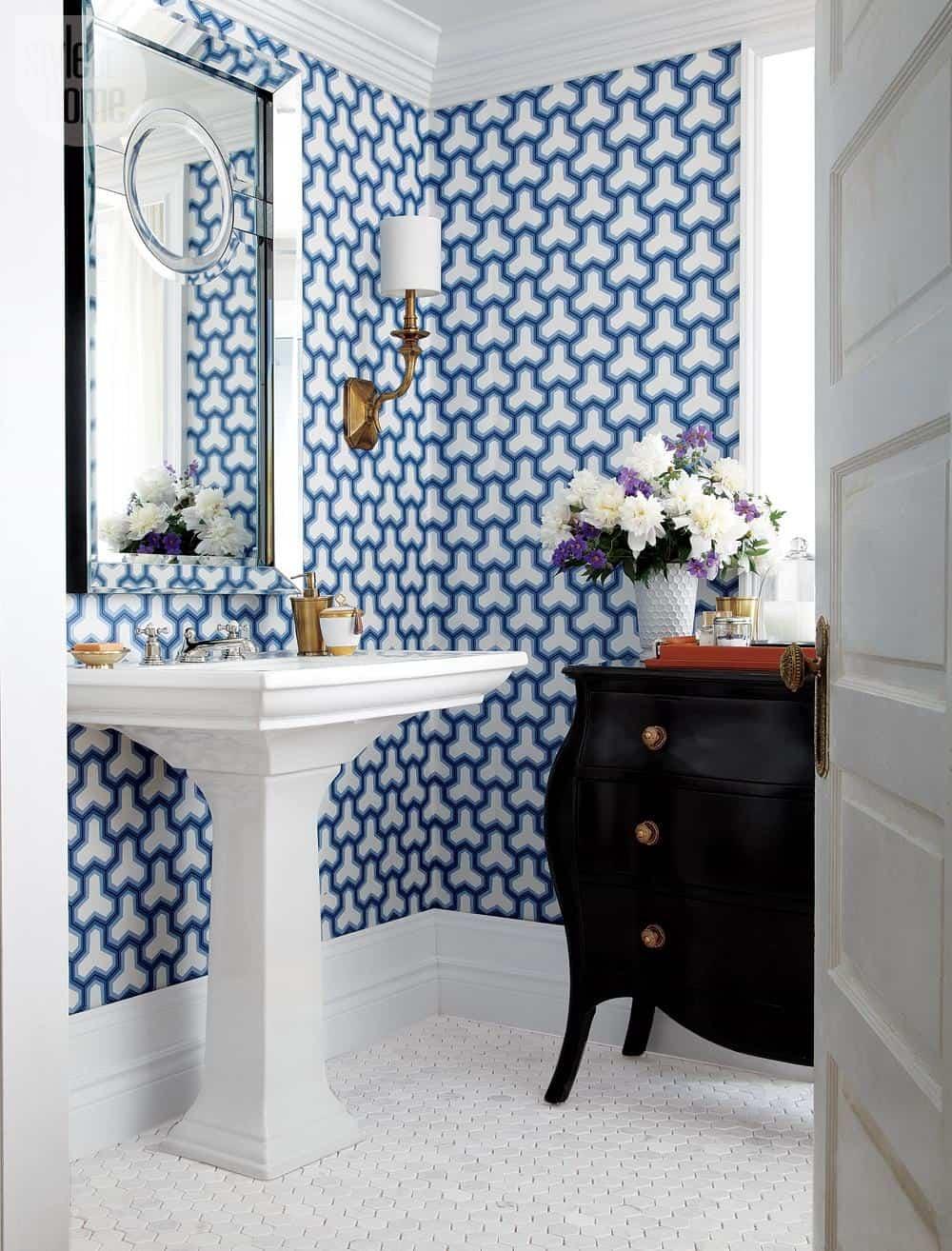Small Bathroom With Wallpaper Bathroom Wallpaper Ideas Uk 768x1009 Download Hd Wallpaper Wallpapertip