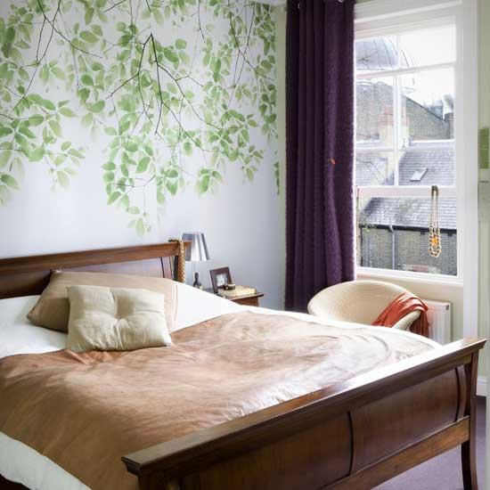 Green Wallpaper For Bedroom Small Bedroom Wallpaper Design 550x550 Download Hd Wallpaper Wallpapertip