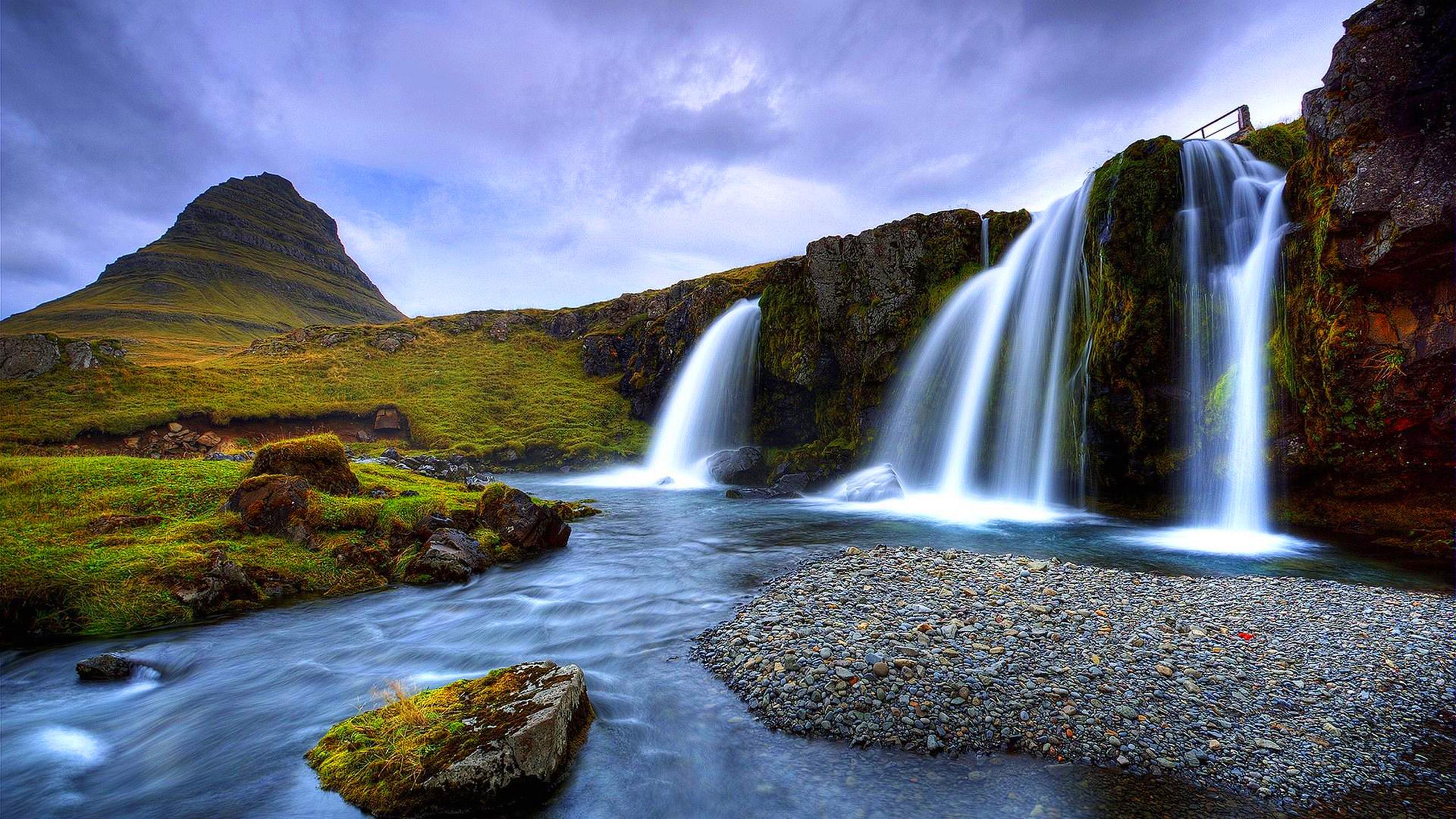 paysage cascade fond d ecran 4k beau