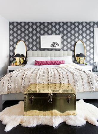 Geometric Bedroom Wallpaper Ideas Modern Wall Design For Bedroom 330x450 Download Hd Wallpaper Wallpapertip