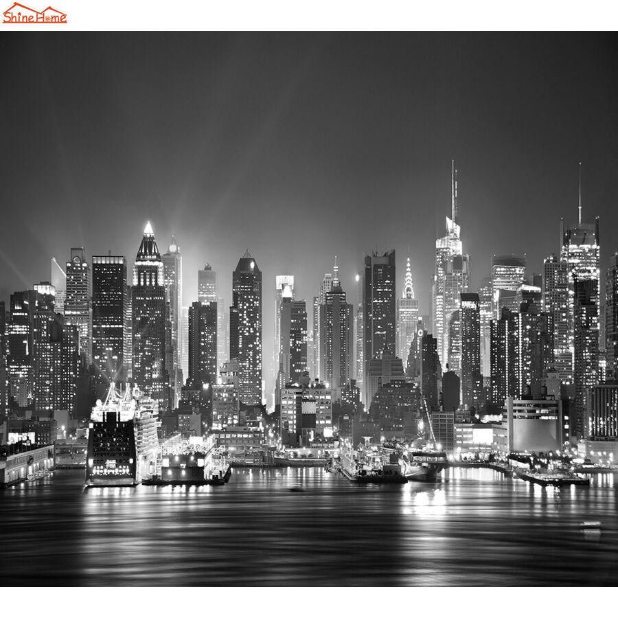 Us $32.17 / metro quadrato; New York Skyline Wallpaper In Bianco E Nero Carta Da Parati Di New York City In Bianco E Nero 900x900 Wallpapertip