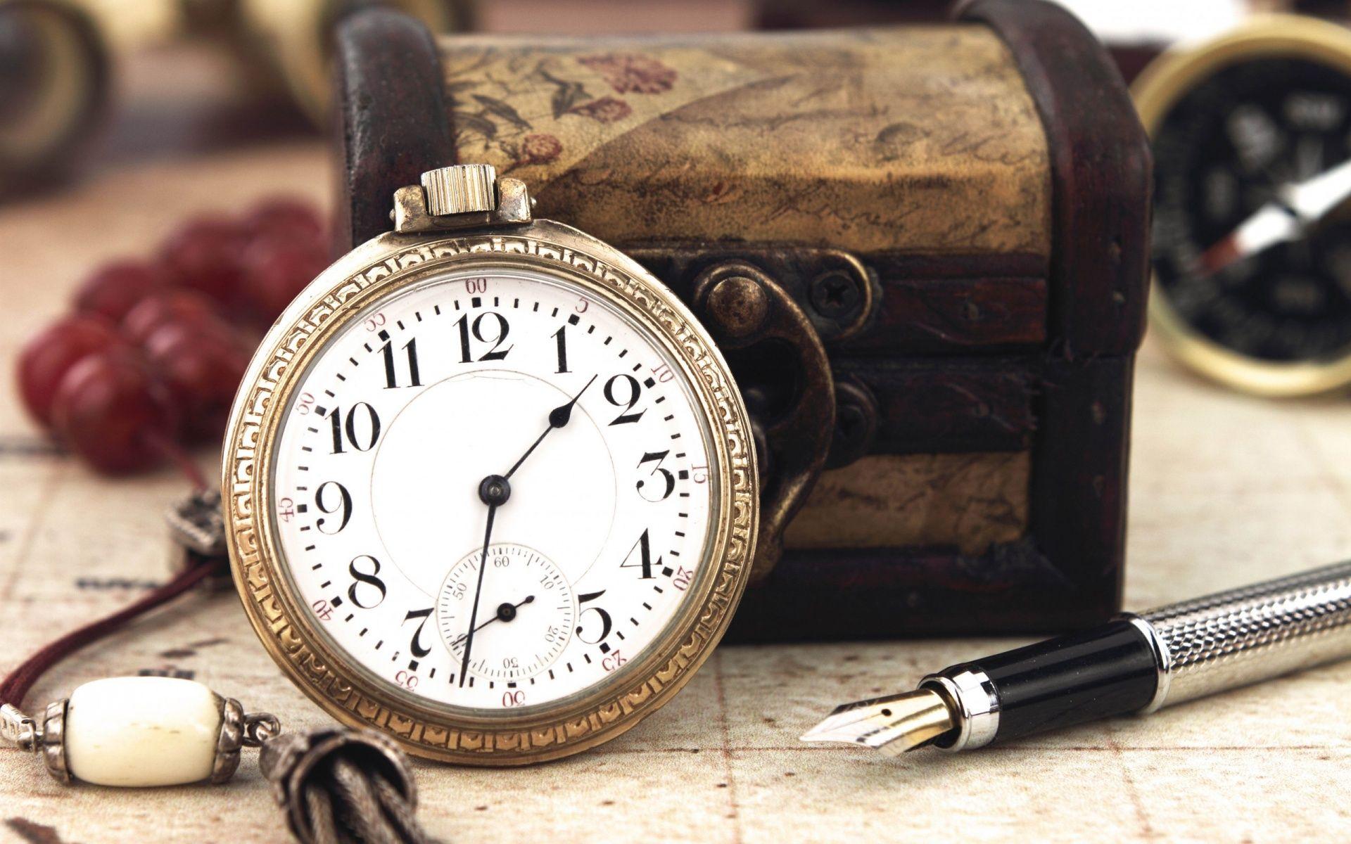 pc vintage fond d ecran d horloge en