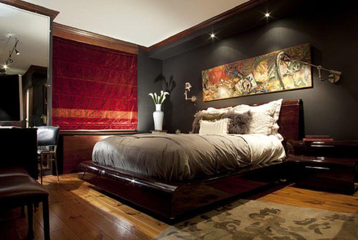 Admirable Bedroom Decorating Ideas For Mens Red Masculine Bedroom 736x494 Download Hd Wallpaper Wallpapertip