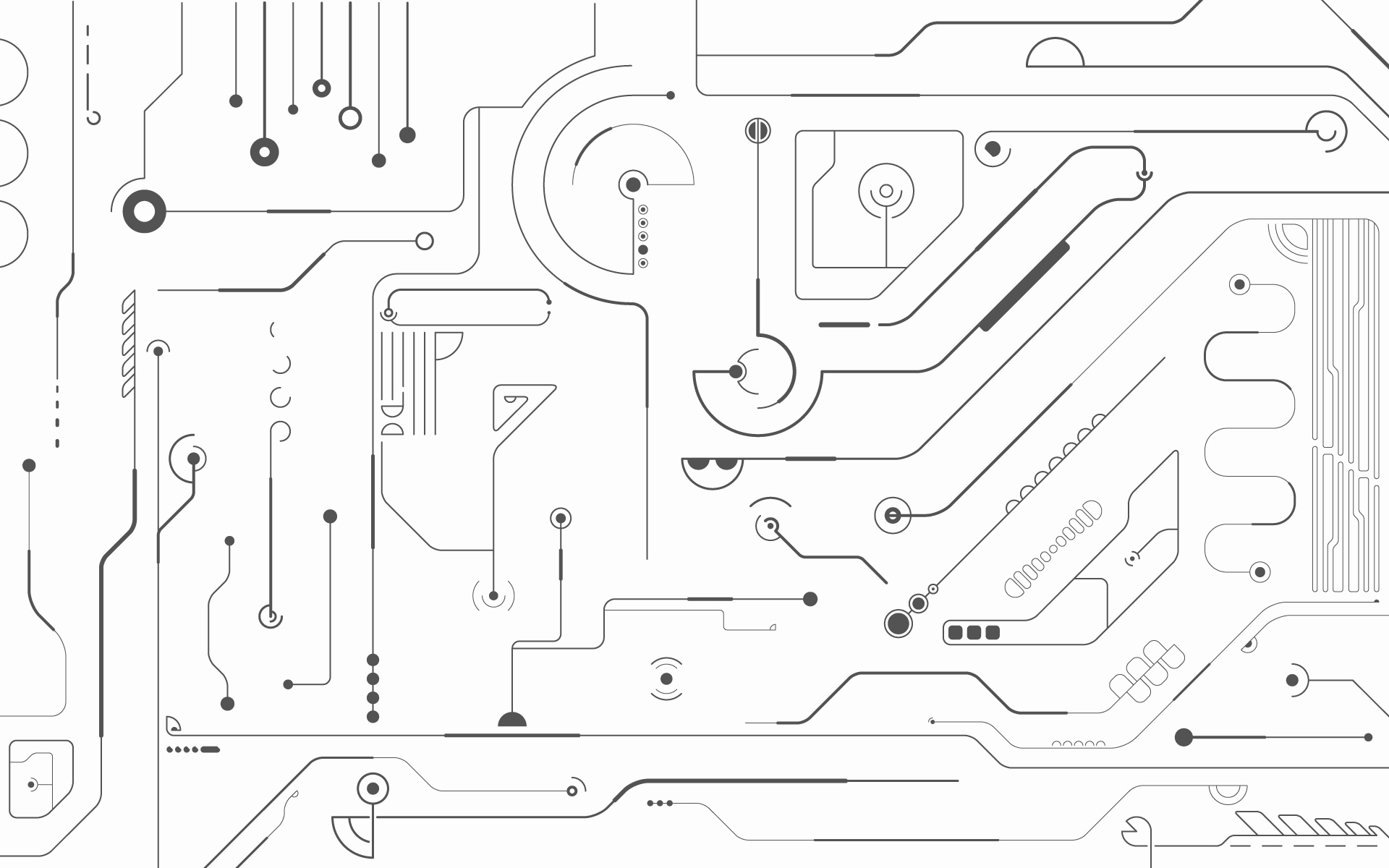 Minimalistic Technology Circuits Wallpaper