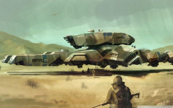 Military fantasy art vehicles airship wallpaper ...