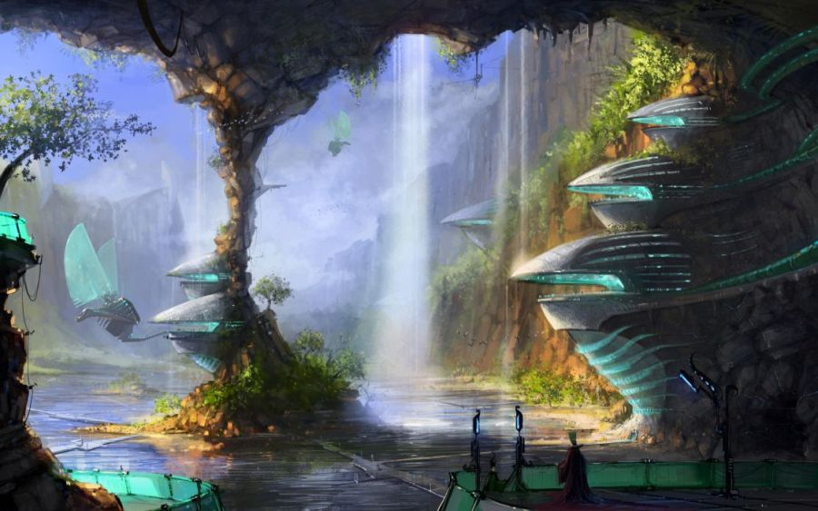 Sci fi science fiction fantasy surreal art artistic paintings cg     sci fi science fiction fantasy surreal art artistic paintings cg digital  architecture cities buildings futuristic vehicles
