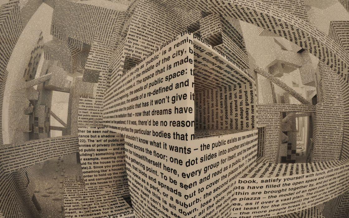 Abstract 3d Cg Digital Art Manipulation Paper Words