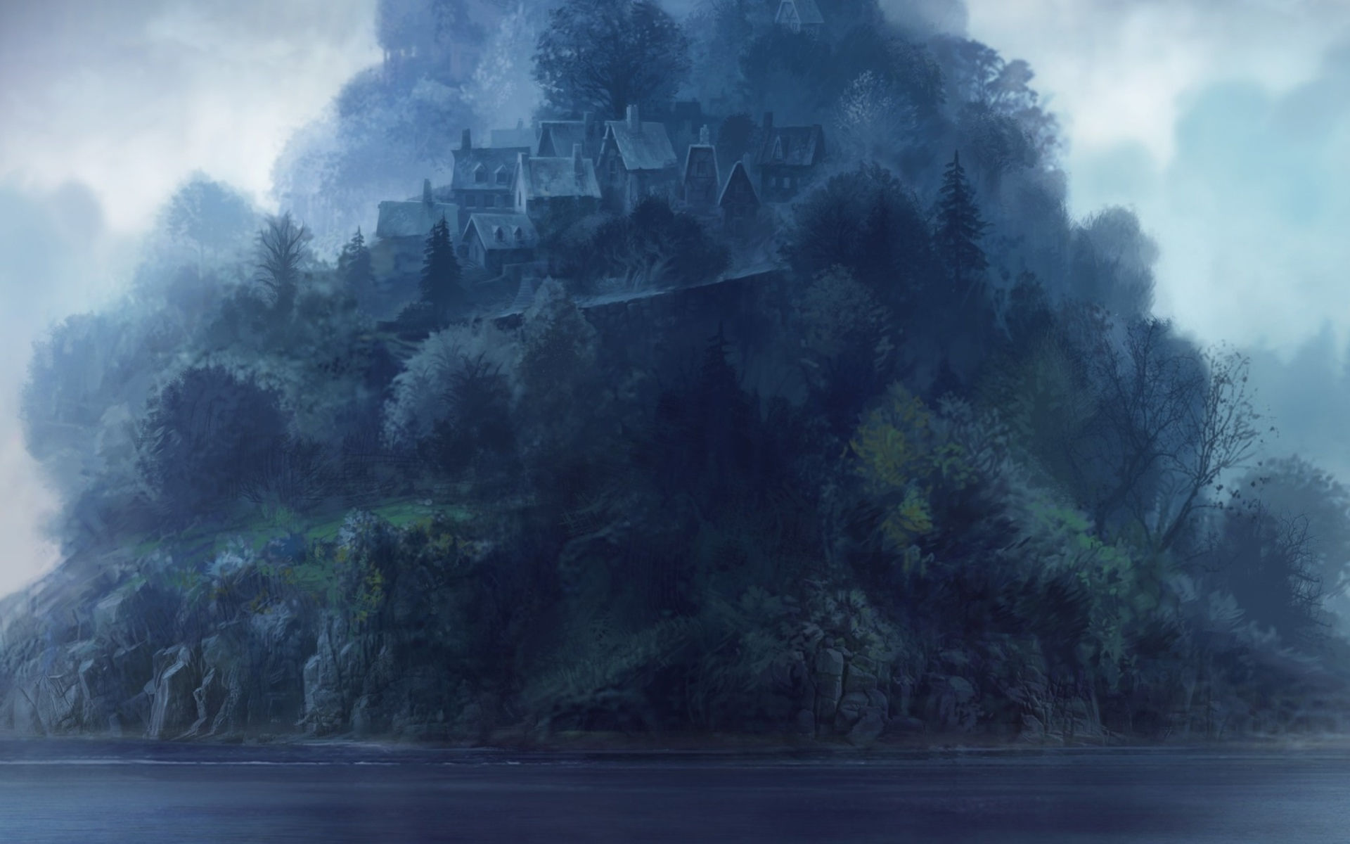 Image result for art painting mysterious island appearance