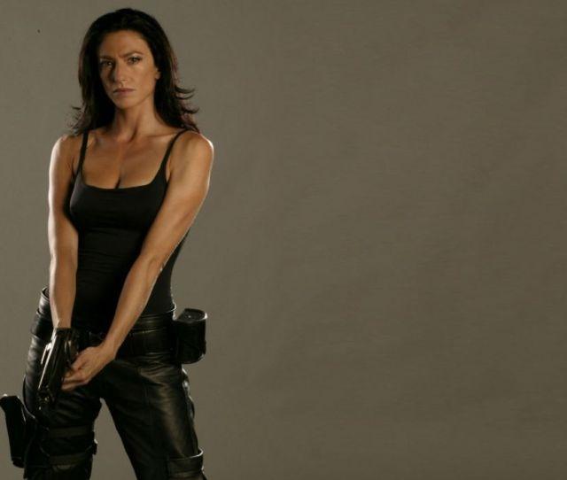 Claudia Black Brunette Farscape Movies Actress Women Females Girls