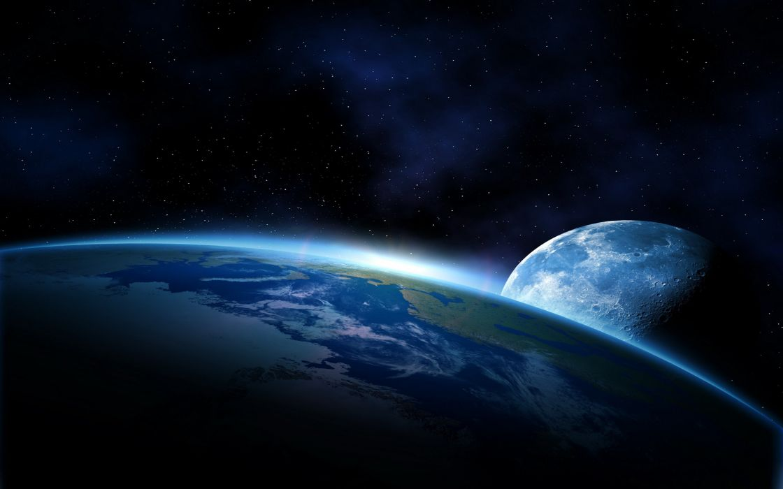 Art Space Earth Atmosphere Moons Moon Planet Planets Space
