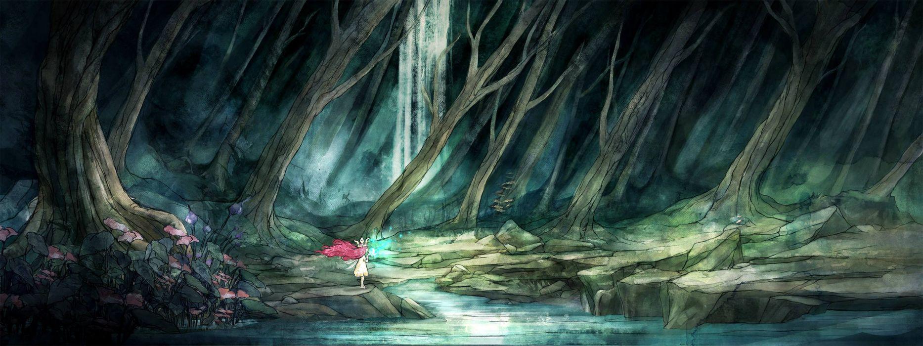 CHILD OF LIGHT Fantasy Game H Wallpaper 3344x1254