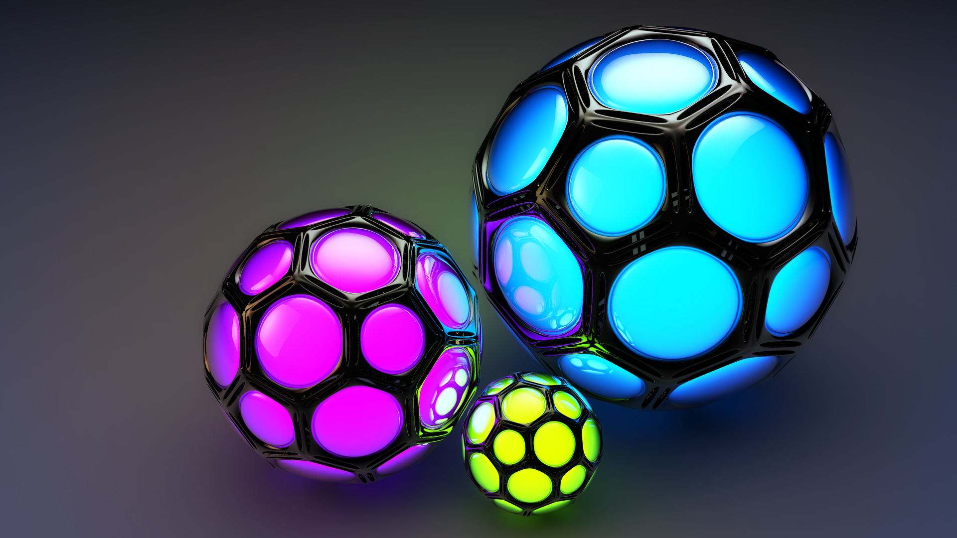 Balls Cell Cell Color Background Wallpaper