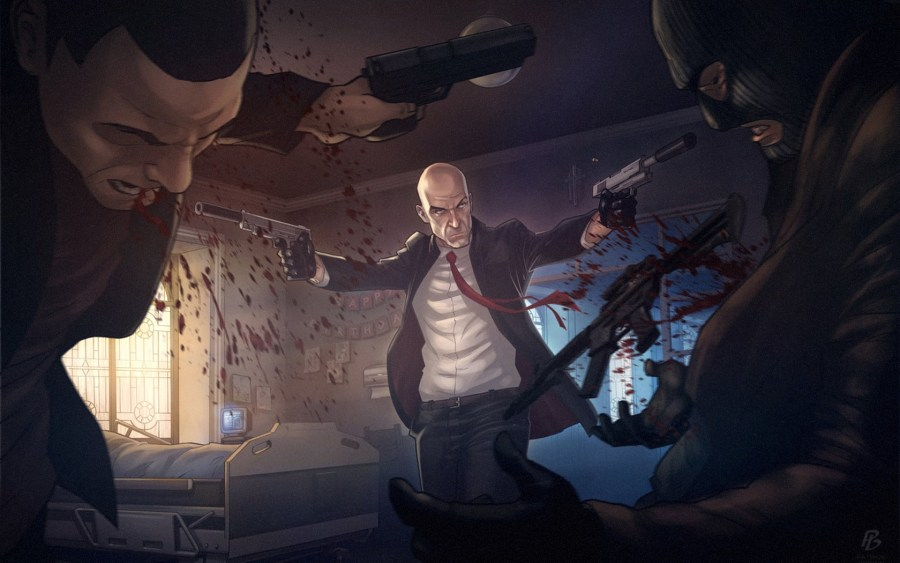 Video games Hitman artwork shooting Agent 47 fan art Game Art     Video games Hitman artwork shooting Agent 47 fan art Game Art wallpaper    1680x1050   216685   WallpaperUP