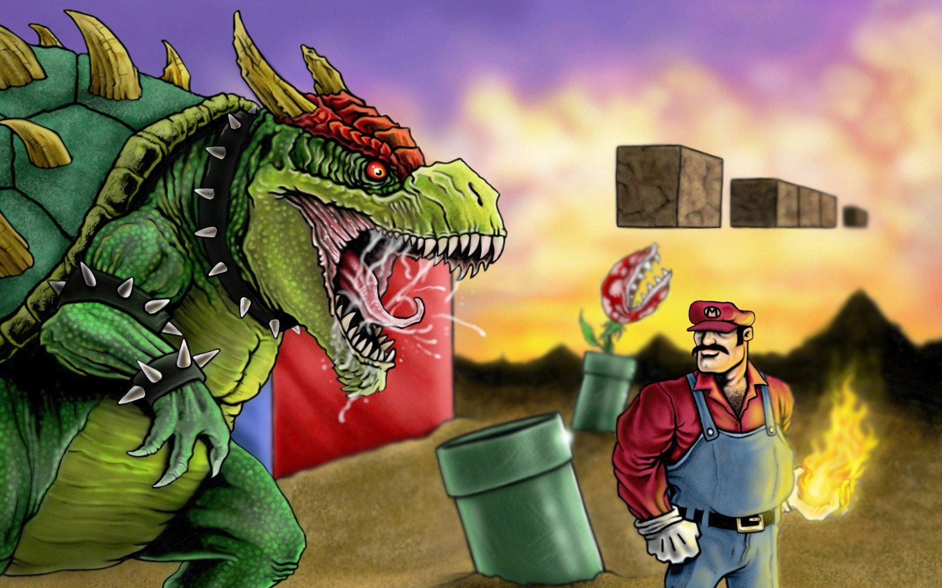 Mario Bros Super Mario Bowser Artwork Realistic Game