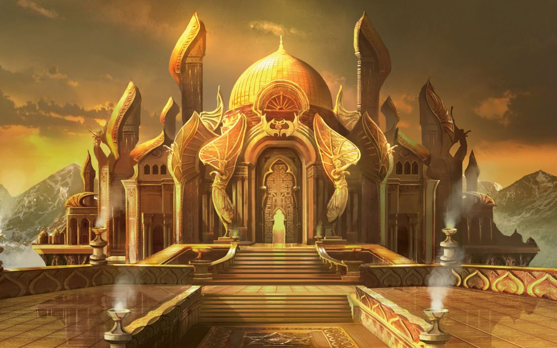 Castle Magic The Gathering Fantastic World Palace Games Fantasy Wallpaper 2560x1600 309674