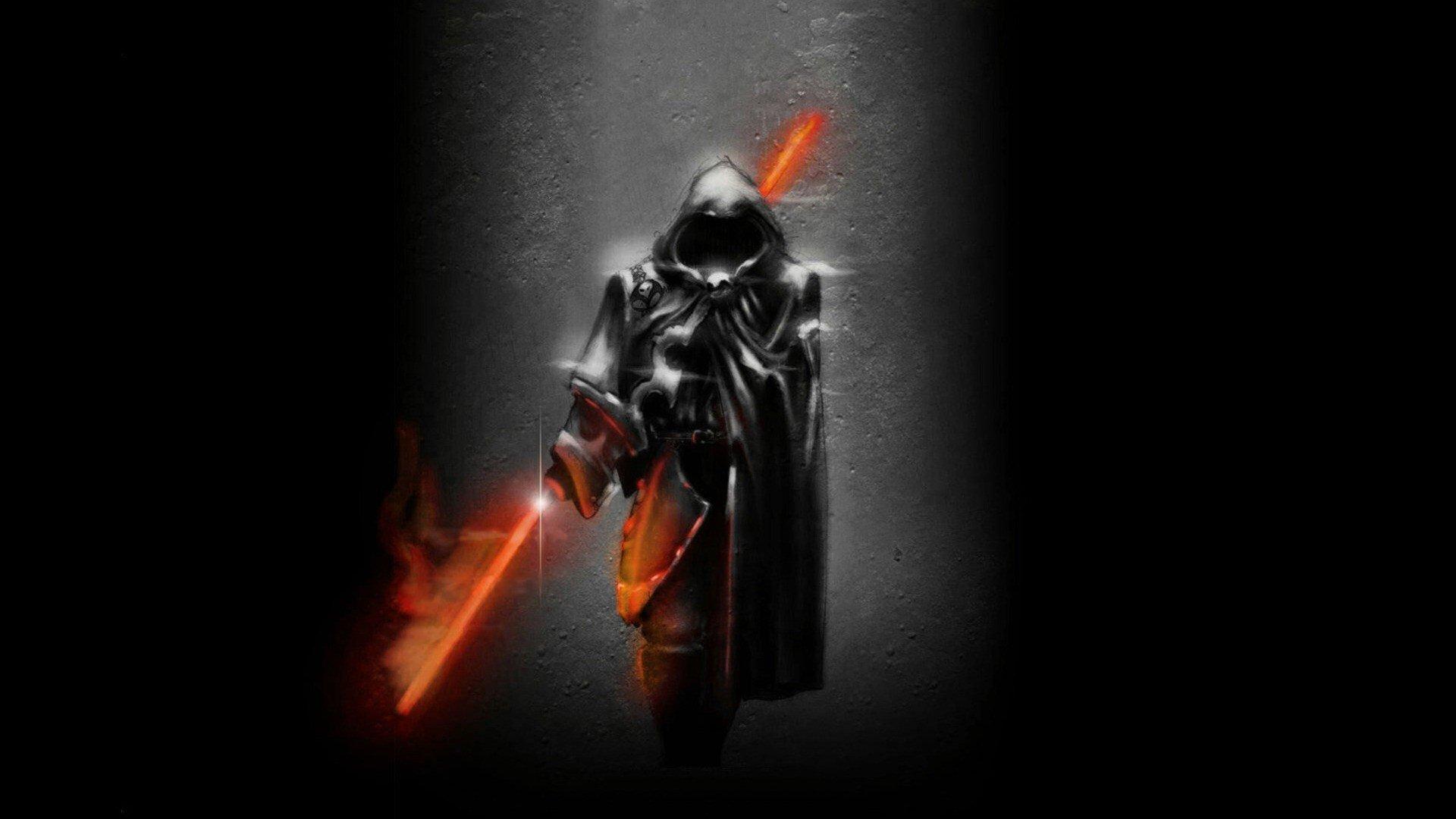 black men digital art artwork warriors dark art light sabers