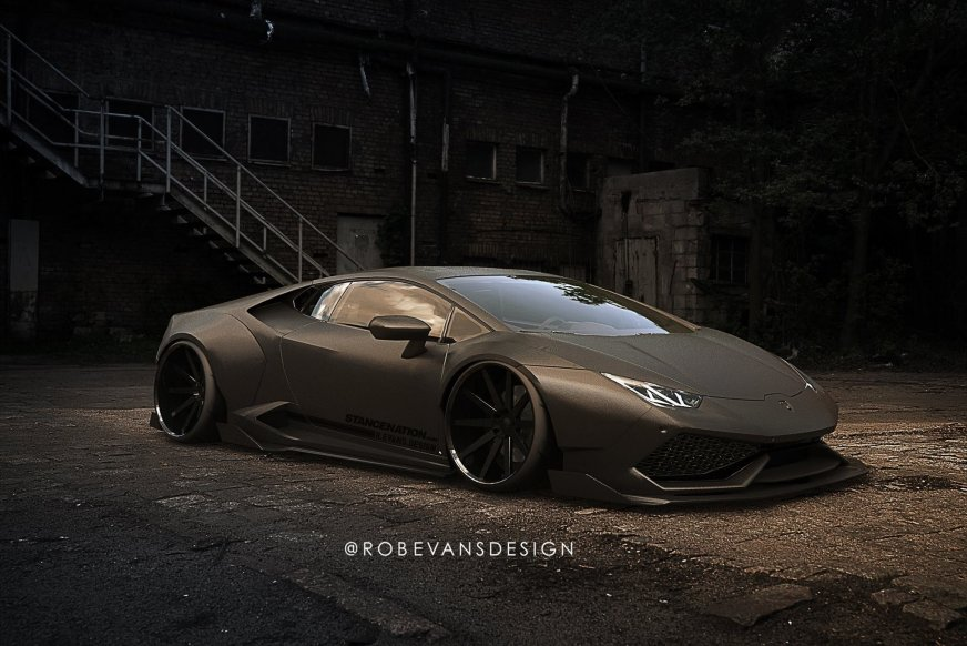 Lamborghini Huracan Liberty Walk widebody concept ...