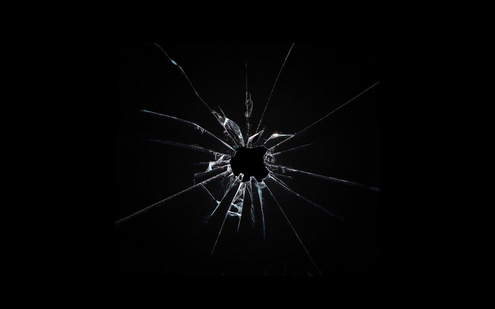 broken glass shattered crack abstract window bokeh pattern