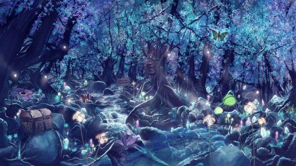 Fantastic world Fantasy Animals magic magical forest neon