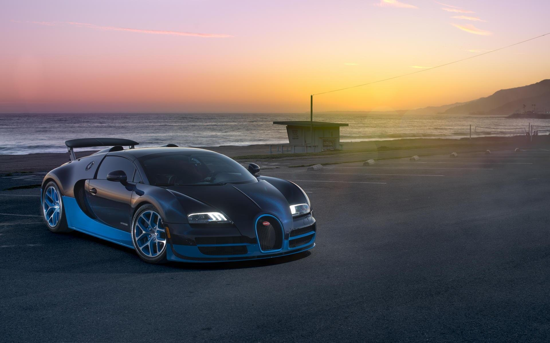 Bugatti Veyron Grand Sport Vitesse Supercar Supercar Sea