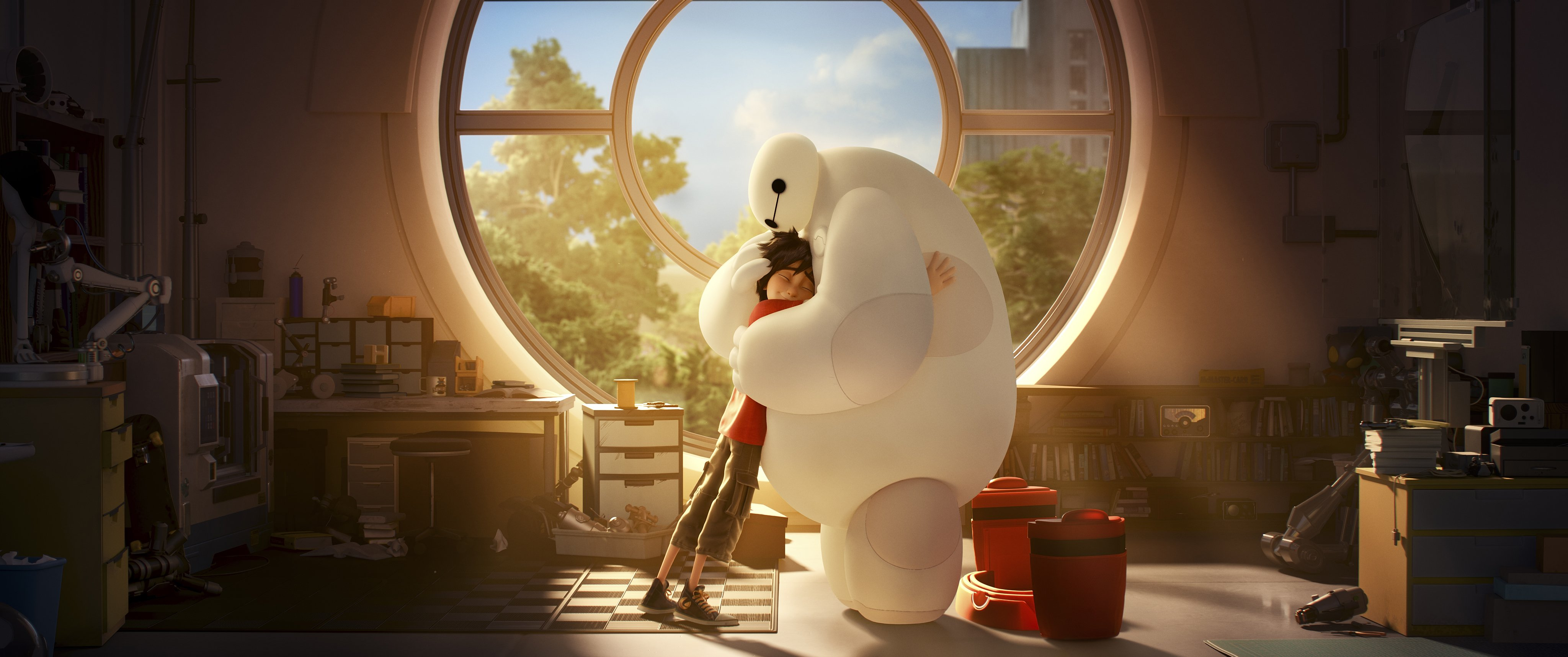 Big Hero 6 Animation Action Adventure Family Robot Cgi Superhero Big Hero Disney Wallpaper
