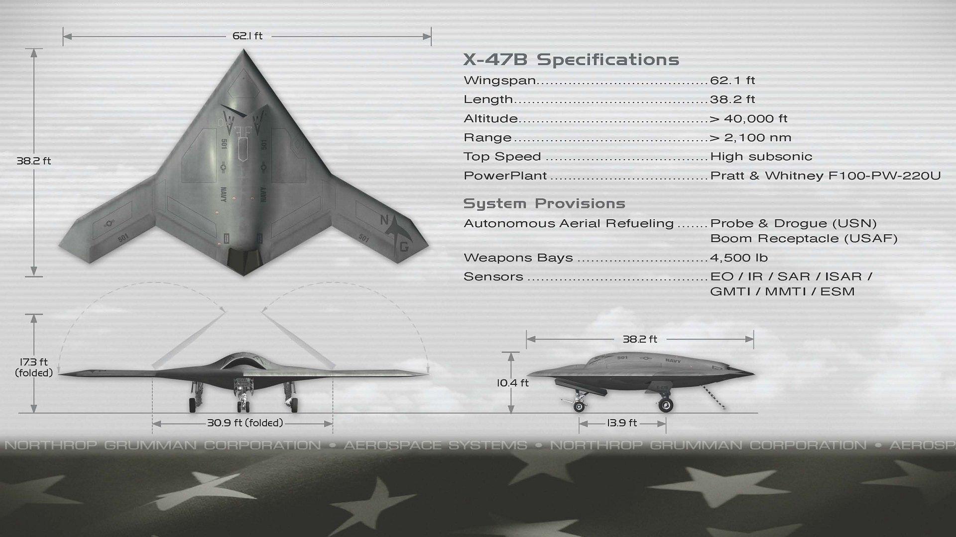 Northrop Grumman X 47b Fighter Jet Concept Drone Military