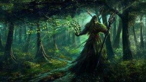 Fantasy mage wizard sorcerer art artwork magic magician wallpaper |  3360x1890 | 685286 | WallpaperUP