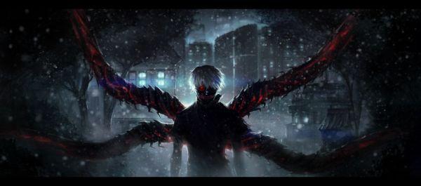 Tokyo Ghoul Ken Kaneki Anime wallpaper | 8000x3543 ...