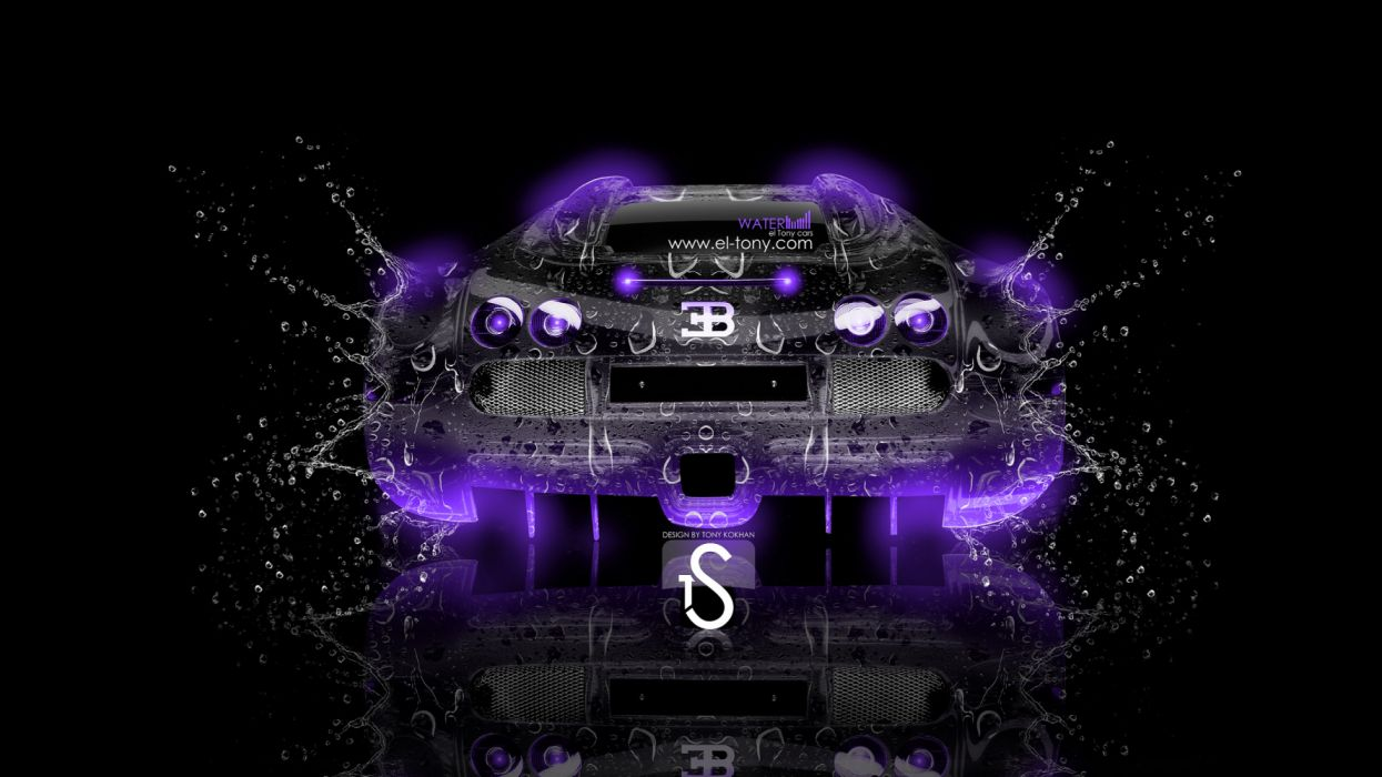 Get it as soon as wed, aug 25. Bugatti Veyron Water Car 2013 Back Violet Neon Wallpaper 3840x2160 1183895 Wallpaperup
